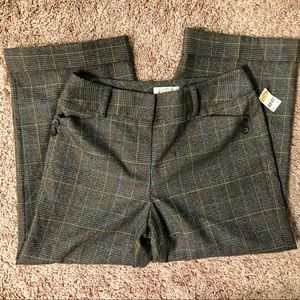 NEW Talbots gray checkered pants size 4
